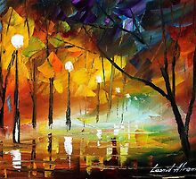 DYING NIGHT - original art oil painting by Leonid Afremov by Leonid  Afremov