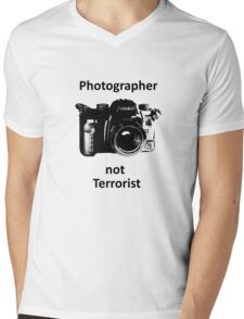 Photographer not Terrorist Mens V-Neck T-Shirt