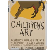 WPA United States Government Work Project Administration Poster 0616 Children's Art Paintings Murals Prints Sculpture Craftwork iPad Case/Skin