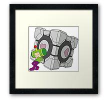 Katamari Companion Cube - Katamari Damacy + Portal 2 Framed Print