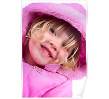 Pink coat Poster