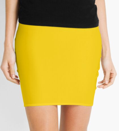 Natural Color Yellow  Mini Skirt