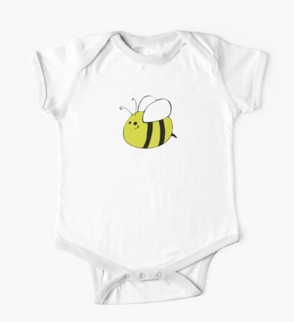 Hand Drawn Bumble Bee One Piece - Short Sleeve