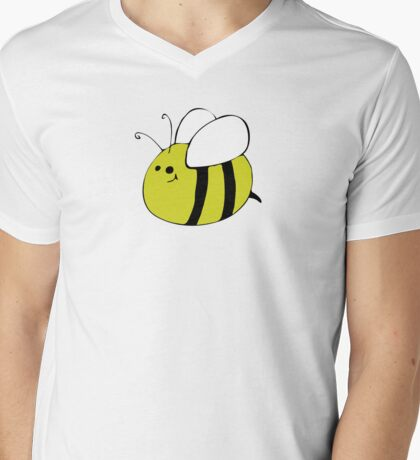 Hand Drawn Bumble Bee Mens V-Neck T-Shirt