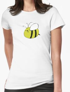 Hand Drawn Bumble Bee Womens Fitted T-Shirt