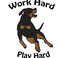 Work Hard, Play Hard - Black & Tan by Kay Salgado