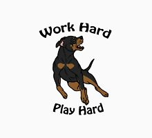 Work Hard, Play Hard - Black & Tan Unisex T-Shirt
