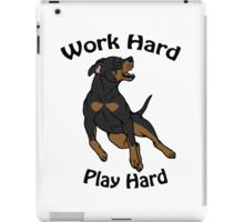 Work Hard, Play Hard - Black & Tan iPad Case/Skin