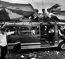 Phnom Penh Minibus - Cambodia by Alex Zuccarelli