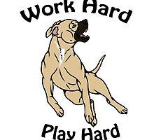 Work Hard, Play Hard - Buckskin by Kay Salgado