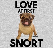 LOVE AT FIRST SNORT Womens Fitted T-Shirt