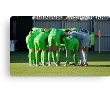 The Huddle Canvas Print