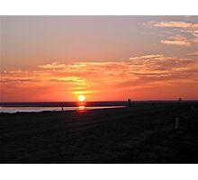 a salt lake sunset Photographic Print
