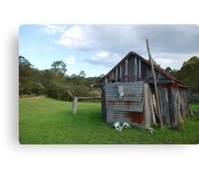 Historic Shed, Ocean and Earth Farmstay Canvas Print