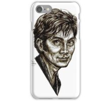 David Tennant - Doctor Who - Allons-y (Drawing) iPhone Case/Skin