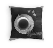 Static Nature with Tea Cup Throw Pillow