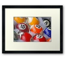 Pool Ball Fun  Framed Print