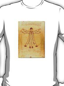 Da Vinci's Vitruvian Timelord T-Shirt