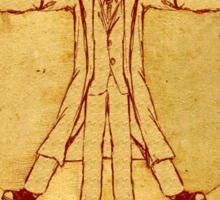 Da Vinci's Vitruvian Timelord Sticker