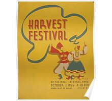WPA United States Government Work Project Administration Poster 0951 Harvest Festival Central Park Mall Poster