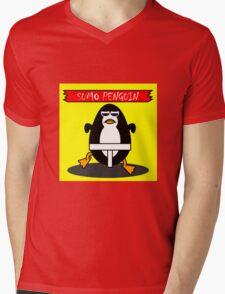 sumo penguin Mens V-Neck T-Shirt