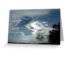 Weird and Wacky Clouds Greeting Card