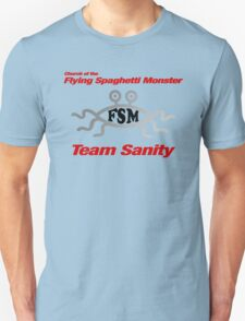 Church of the Flying Spaghetti Monster - red T-Shirt