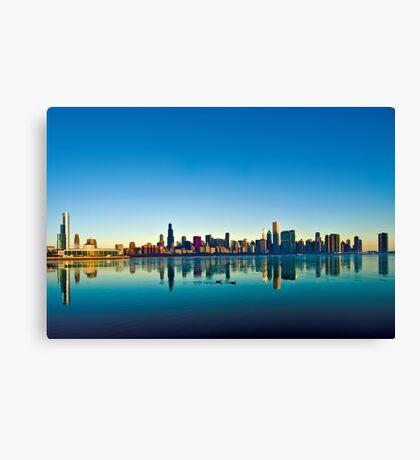 Chicago skyline at sunrise. Canvas Print
