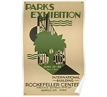 WPA United States Government Work Project Administration Poster 0639 Parks Exhibition Rockefller Center Poster
