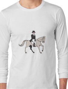 Equestrian Rider Dressage Cartoon Long Sleeve T-Shirt