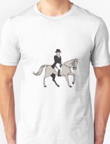 Equestrian Rider Dressage Cartoon T-Shirt