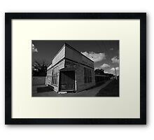 Empty shop Framed Print