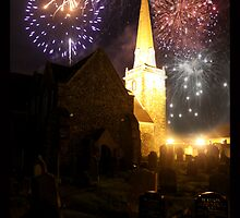 fireworks over St.Nick's by SNAPPYDAVE