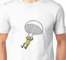American Paratrooper Parachute Cartoon Unisex T-Shirt
