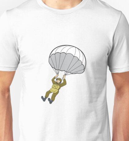 American Paratrooper Parachute Cartoon Unisex T-Shirt