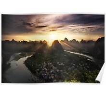 Laozhai Sunset Poster