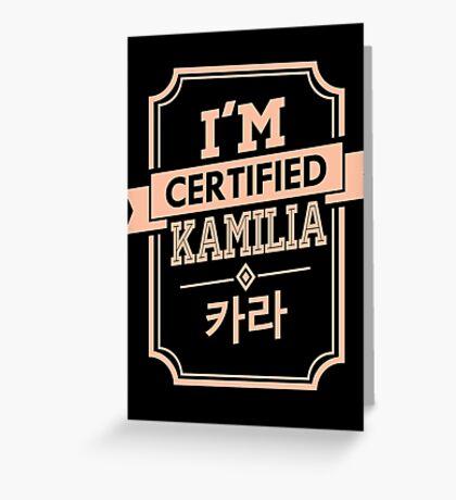 Certified KARA Kamilia Greeting Card