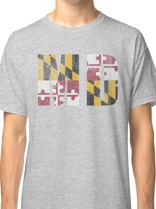 Vintage Maryland MD Flag Classic T-Shirt