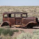 Route 66 - Abandoned Car by Frank Romeo
