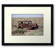 Route 66 - Abandoned Car Framed Print
