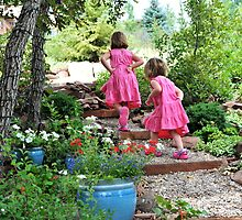 Sisters in Pink  by Deborah  DeKoff