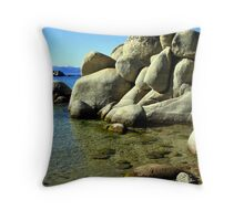 """Ripples and Rocks"" Throw Pillow"