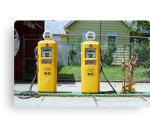 Route 66 - Illinois Gas Pumps Canvas Print