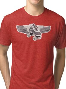 Flying Groovy Skate (faded) Tri-blend T-Shirt
