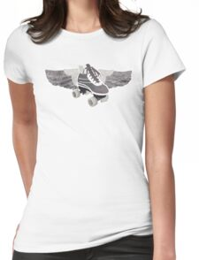 Flying Groovy Skate (faded) Womens Fitted T-Shirt