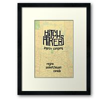 Hitchhikers Improv Map Framed Print