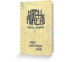 Hitchhikers Improv Map Greeting Card