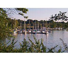 Sailboats on Lake Decatur, Decatur IL Photographic Print