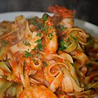 Pasta e Gamberi (Italian Food Series) by diLuisa Photography