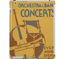 WPA United States Government Work Project Administration Poster 0599 Free Orchestra and Band Concerts Educational Alliance iPad Case/Skin